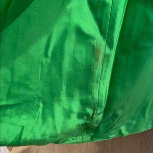 Aidan Mattox Dresses - STUNNING Emerald grn beaded backless evening dress